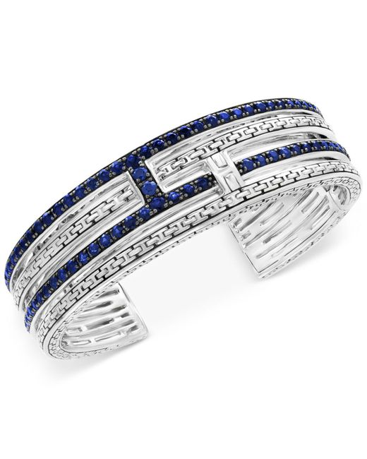 Effy Collection - Metallic Sapphire Bangle Bracelet (4-1/10 Ct. T.w.) In Sterling Silver - Lyst