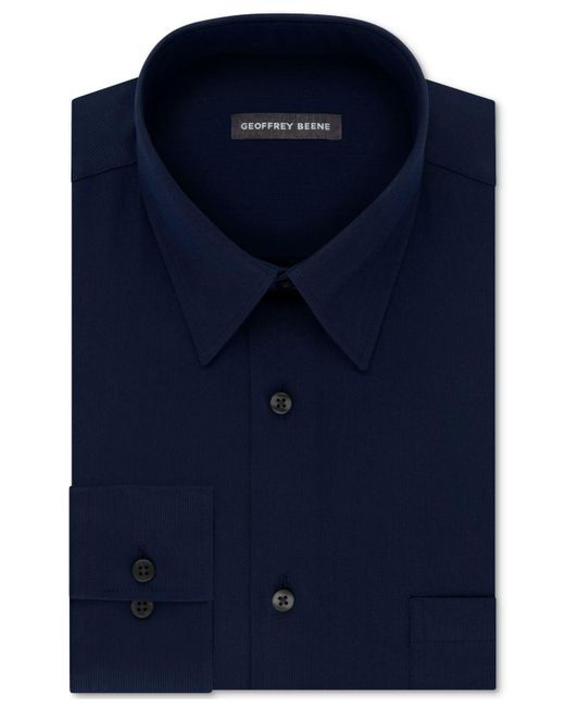 Geoffrey Beene - Blue Men's Classic/regular Fit Wrinkle Free Solid Dress Shirt for Men - Lyst