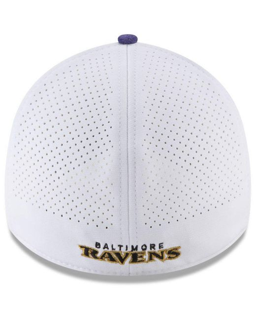 check out 48d38 461c8 shopping ktz white baltimore ravens equalizer 39thirty cap for men lyst  b9ee4 52e5f