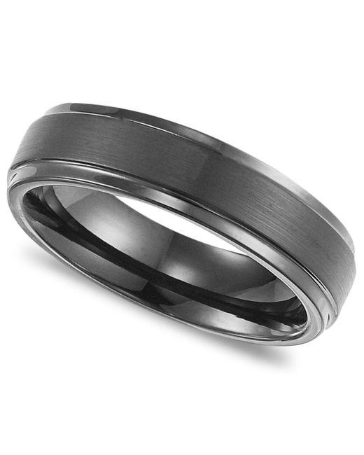 Triton - Metallic Men's Black Tungsten Carbide Ring, Comfort Fit Wedding Band (6mm) for Men - Lyst