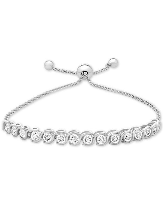 Macy's - Lab-created White Sapphire Bolo Bracelet (3-7/8 Ct. T.w.) In Sterling Silver - Lyst