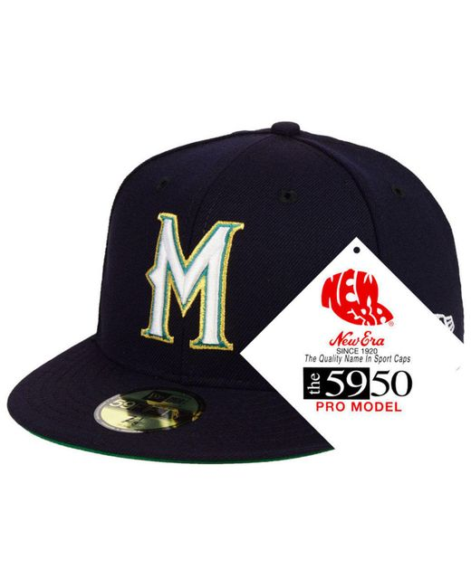 37d8552a106 KTZ - Blue Milwaukee Brewers Retro Stock 59fifty Fitted Cap for Men - Lyst  ...