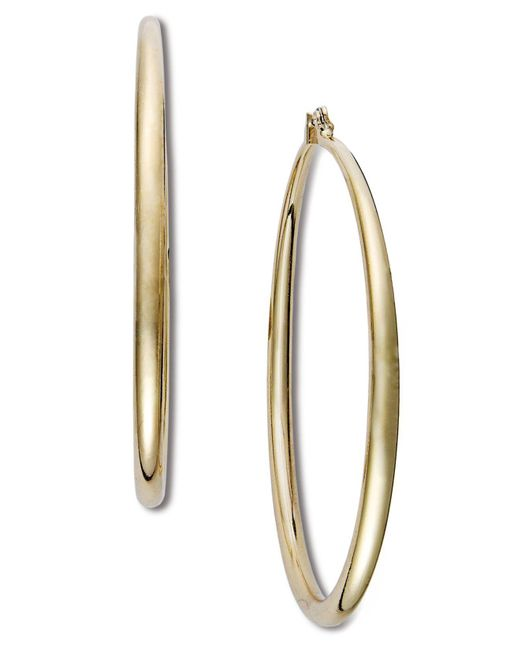 INC International Concepts - Metallic Silver-tone Large Hoop Earrings - Lyst