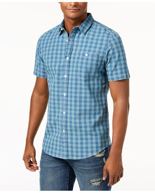 American Rag - Blue Check Shirt, Created For Macy's for Men - Lyst