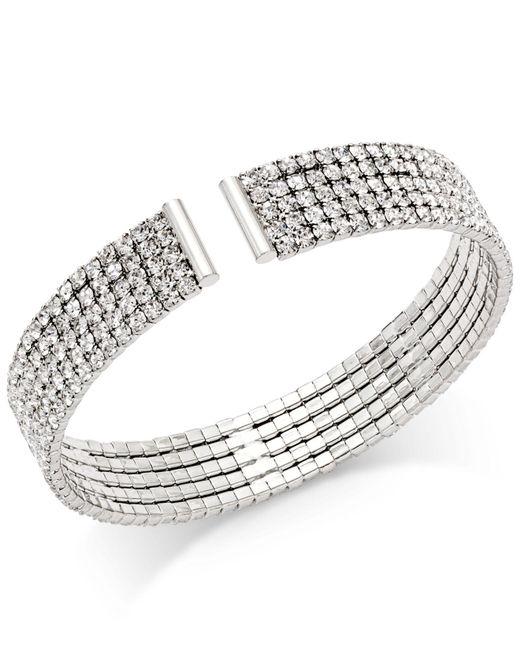 INC International Concepts - Metallic Gold-tone Crystal Flex Bracelet - Lyst