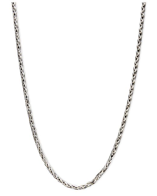 "Macy's - 14k White Gold Necklace, 20"" Diamond Cut Wheat Chain (9/10mm) - Lyst"