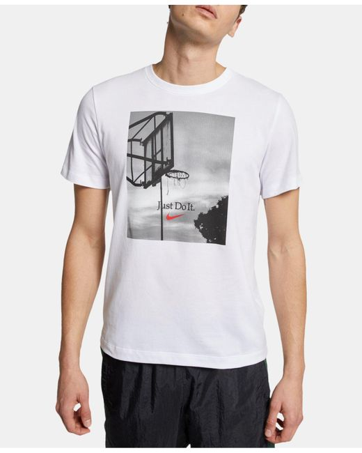 1632c03f Nike Dri-fit Short-sleeve Hoop Jdi T-shirt in White for Men - Lyst