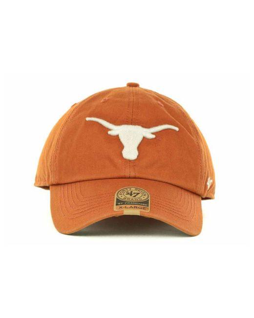 size 40 d6417 fef62 ... 47 Brand - Orange Texas Longhorns Ncaa  47 Franchise Cap for Men ...