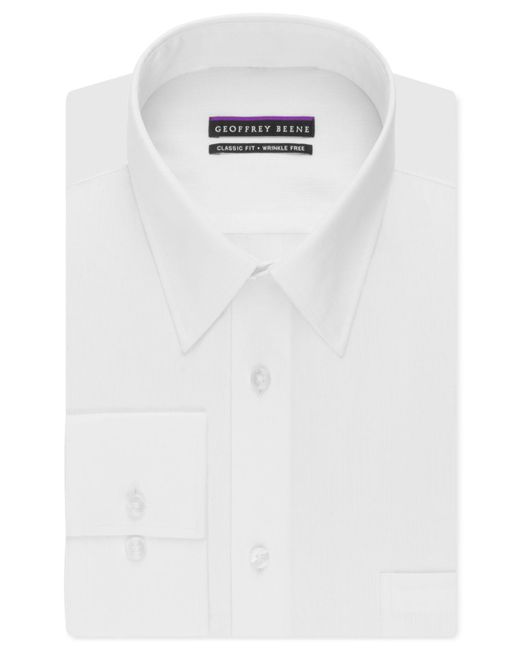 Geoffrey Beene   White Men's Classic-fit Wrinkle Free Bedford Cord Dress Shirt for Men   Lyst