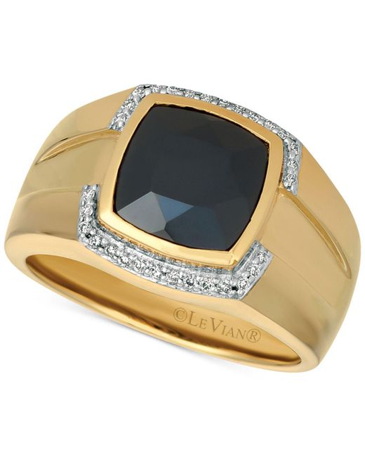 Le Vian - Metallic Men's Onyx (2-9/10 Ct. T.w.) & Diamond (1/6 Ct. T.w.) Ring In 14k Gold - Lyst