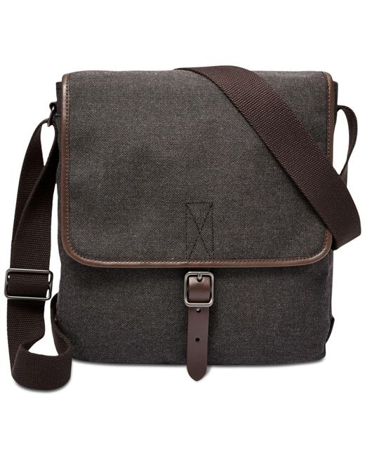 Fossil - Black Haskell City Bag for Men - Lyst
