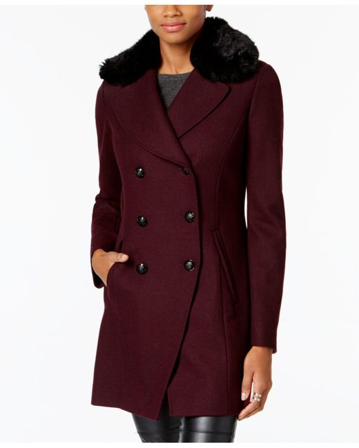 INC International Concepts - Multicolor Faux-fur-trim Peacoat - Lyst