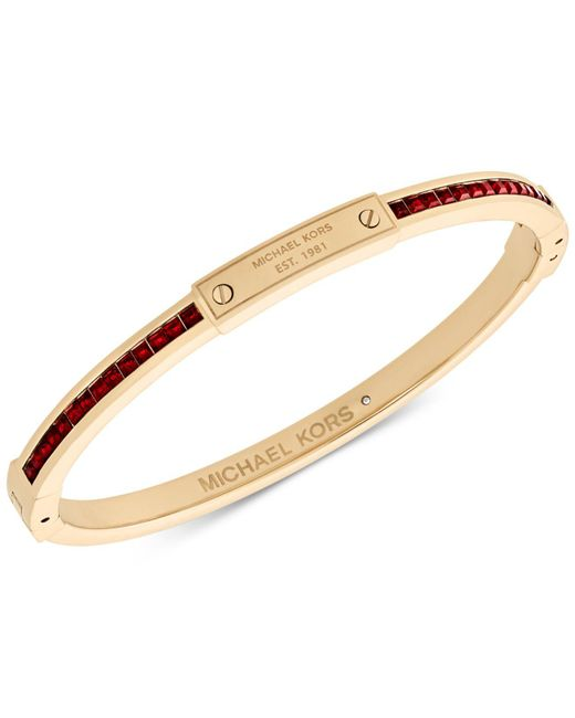 Michael Kors | Metallic Colored Crystal Slim Bangle Bracelet | Lyst