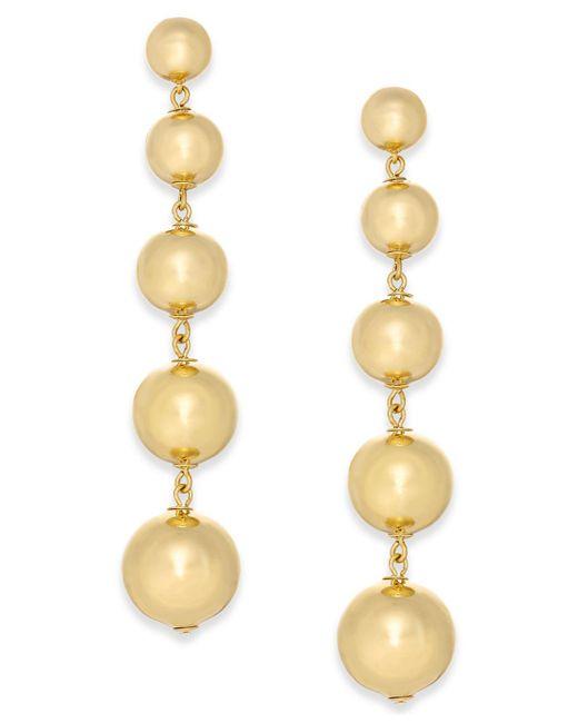 Kate Spade | Metallic Graduated Ball Linear Drop Earrings | Lyst