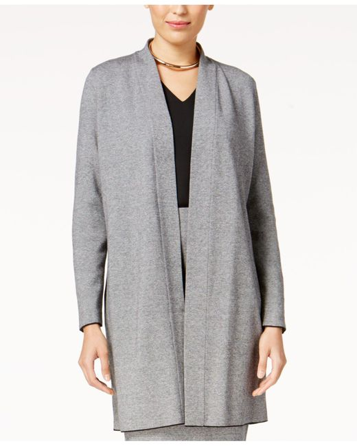 Alfani | Gray Shawl-collar Sweater Coat | Lyst