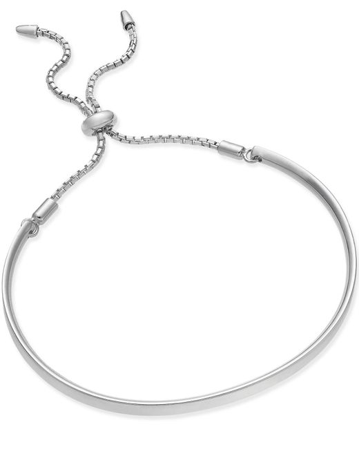 Giani Bernini | Metallic Sterling Silver Anklet, Cubic Zirconia Sideways Cross Anklet (1/10 Ct. T.w.) | Lyst