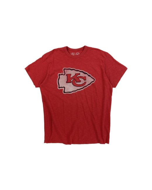 47 Brand - Red Kansas City Chiefs Logo Scrum T-shirt for Men - Lyst
