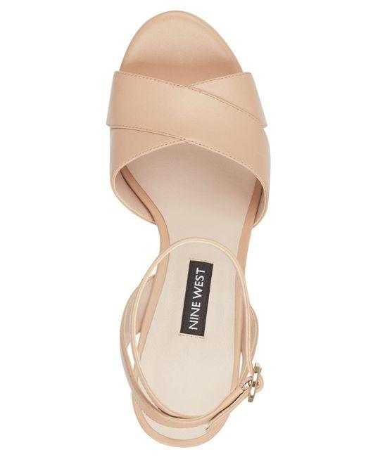 60182603f50 ... Nine West - Natural Quisha Platform Sandals - Lyst ...