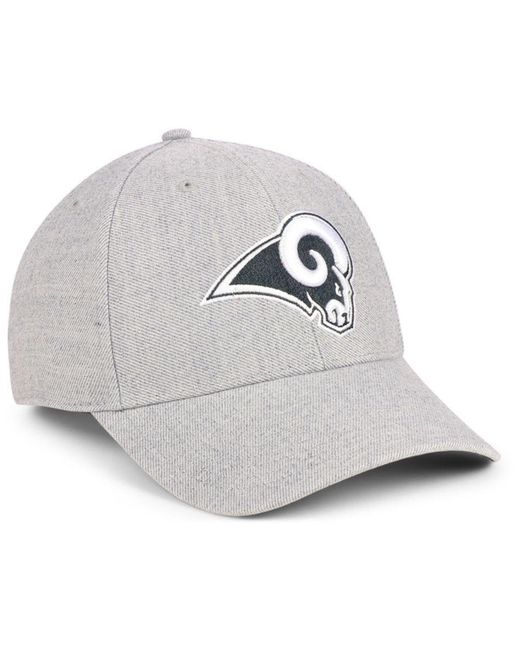 b2274e8bb6811 ... 47 Brand - Gray Los Angeles Rams Heathered Black White Mvp Adjustable  Cap for Men ...