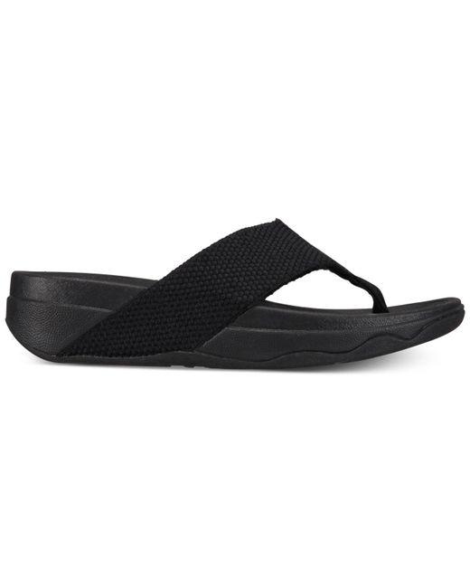 ce6ba5181bd4 ... Fitflop - Black Surfa Platform Flip-flop Sandals - Lyst ...