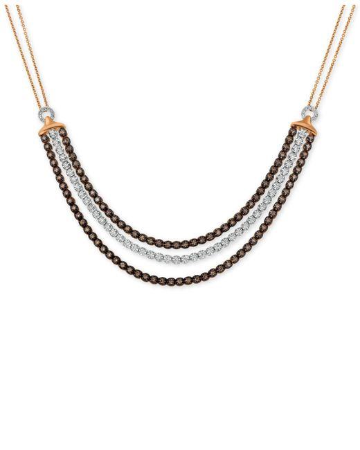 Le Vian - Metallic Diamond Three Row Choker Necklace (2-1/8 Ct. T.w.) In 14k Rose Gold - Lyst