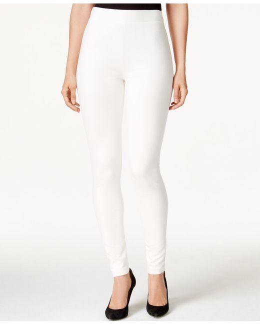 Vince Camuto | White Pants, Ponte-knit Leggings | Lyst