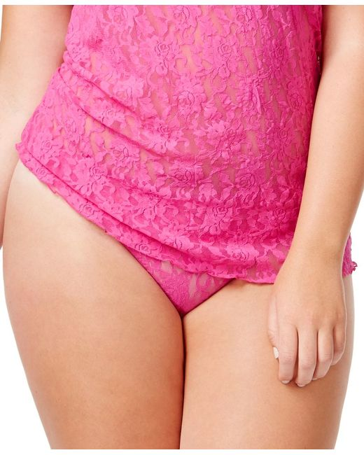 Hanky Panky   Pink Signature Lace Plus Size Original Rise Thong 4811x   Lyst