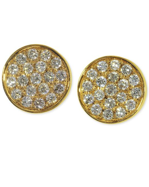 Effy Collection - Metallic Diamond Round Stud Earrings (1/3 Ct. T.w.) In 14k Gold, White Gold Or Rose Gold - Lyst