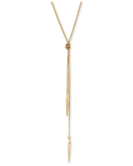BCBGeneration | Metallic Knotted Long Length Lariat Necklace | Lyst
