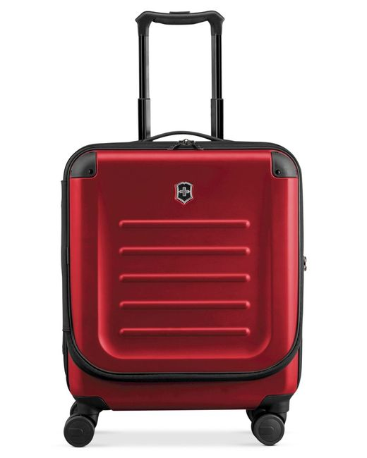 "Victorinox | Red Victorinox Spectra 2.0 21"" Extra Capacity Dual Access Carry On Hardside Spinner Suitcase for Men 