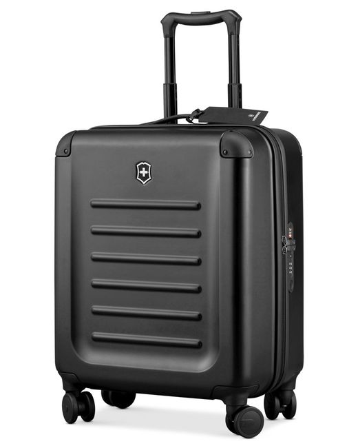 "Victorinox | Black Victorinox Spectra 2.0 21"" Extra Capacity Carry On Hardside Spinner Suitcase for Men 