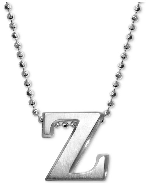 Alex Woo - Metallic Little Letter By Initial Pendant Necklace In Sterling Silver - Lyst