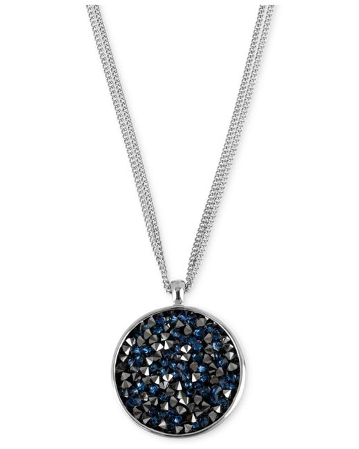 Kenneth Cole | Metallic Silver-tone Faceted Bead Round Pendant Necklace | Lyst