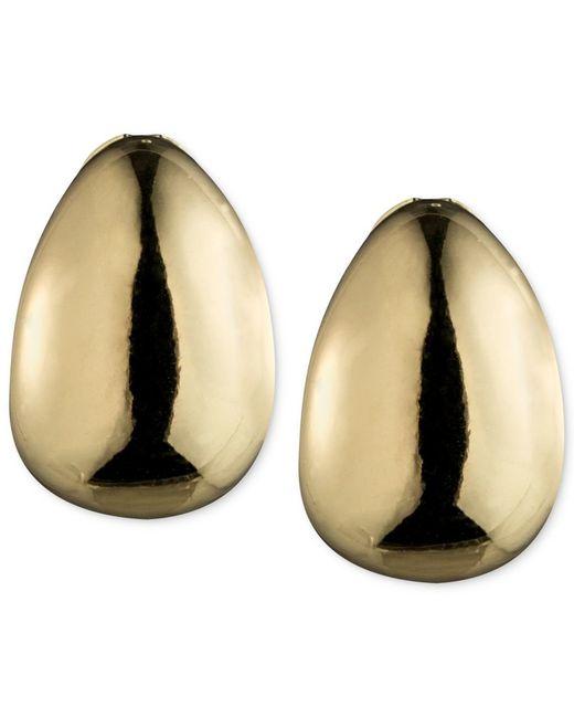 Anne Klein | Metallic Hoop Clip-on Earrings | Lyst