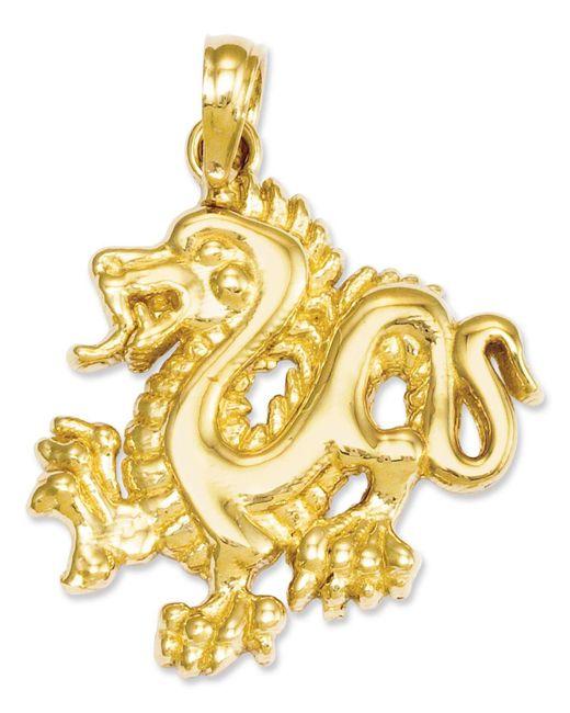 Macy's - Metallic 14k Gold Charm, Small Dragon Charm - Lyst