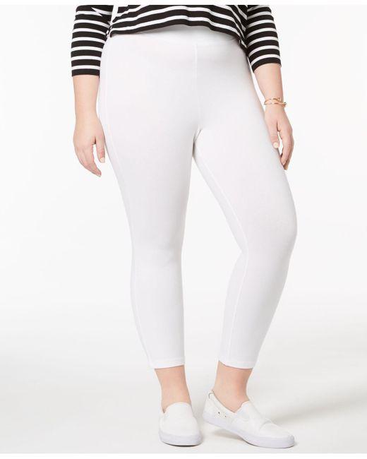 Hue - White Plus Capri Leggings - Lyst