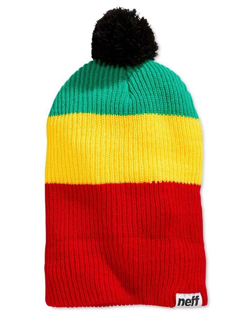 Neff | Green Snappy Ombre Striped Beanie for Men | Lyst