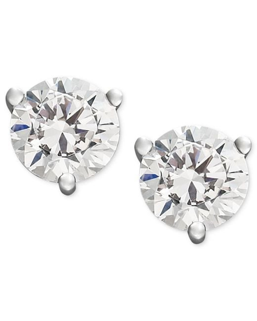 Macy's - Metallic Near Colorless Certified Diamond Stud Earrings In 18k White Or Yellow Gold (3/4 Ct. T.w.) - Lyst