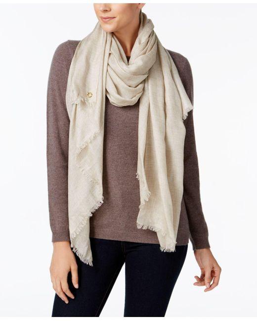 Calvin Klein | Brown Oversized Modal Cashmere Wrap | Lyst