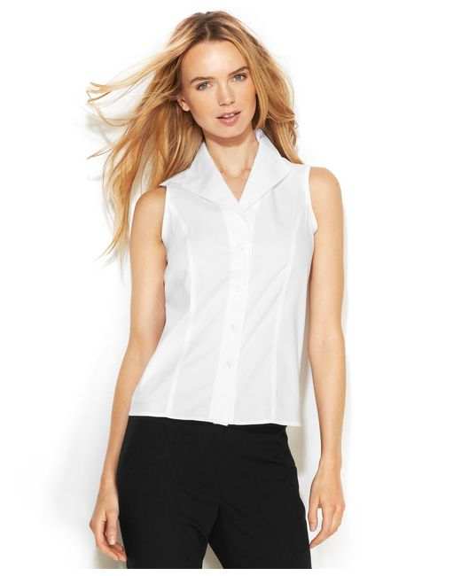 Enjoy free shipping and easy returns every day at Kohl's. Find great deals on Womens White Button Down Sleeveless Shirts & Blouses at Kohl's today!