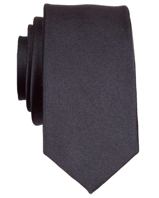 Original Penguin | Black Super Slim Solid Tie for Men | Lyst