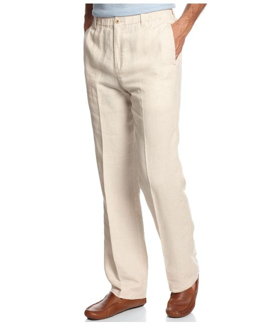 Tommy Bahama | Natural Big And Tall Men's New Linen On The Beach Pants for Men | Lyst