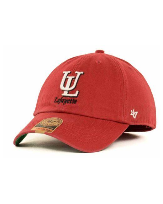 47 Brand | Red Louisiana Lafayette Ragin' Cajuns Franchise Cap for Men | Lyst
