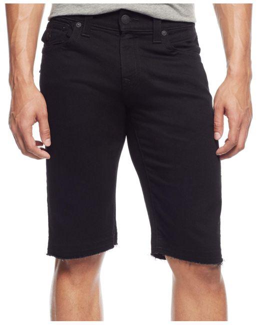 True Religion - Black Relaxed Shorts for Men - Lyst