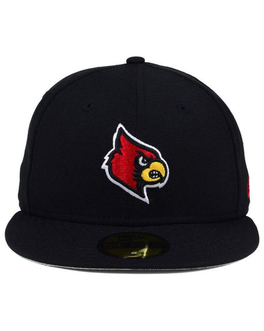 buy popular a0398 c15ee ... KTZ - Black Louisville Cardinals Ac 59fifty Fitted Cap for Men - Lyst  ...