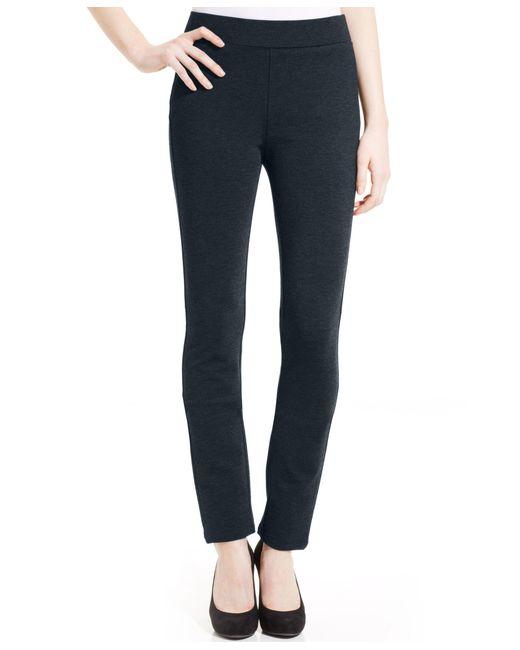 NYDJ | Black Jody Tummy-control Straight-leg Ponte-knit Pants | Lyst