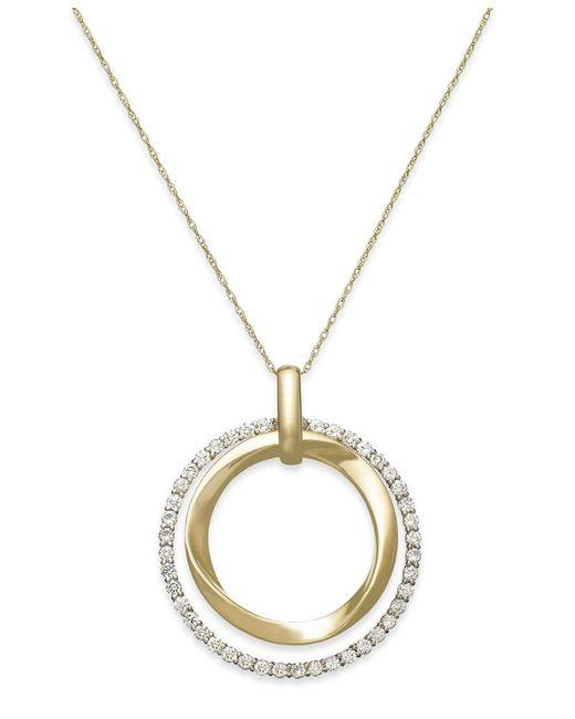 Le Vian   Metallic Diamond Circle Pendant Necklace In 14k Gold (7/8 Ct. T.w.)   Lyst