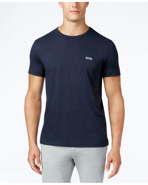 BOSS | Blue Boss Green Crew-neck T-shirt for Men | Lyst