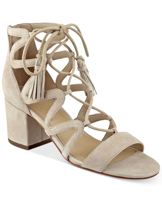 Marc Fisher | Natural Rayz Lace-up Sandals | Lyst