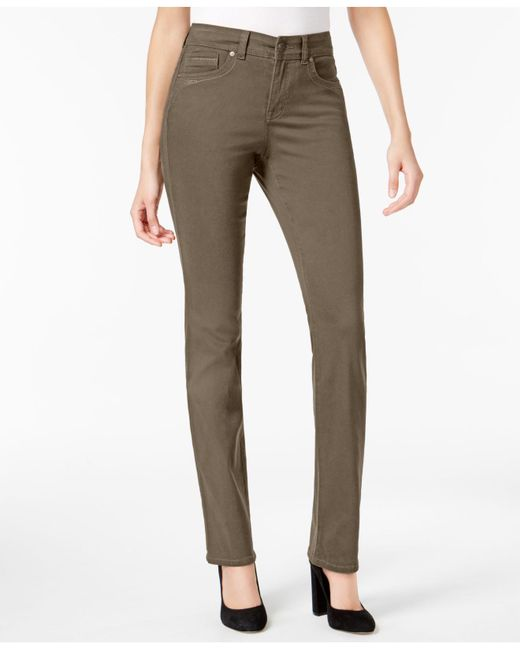 Style & Co. - Multicolor Tummy-control Straight-leg Jeans, Created For Macy's - Lyst